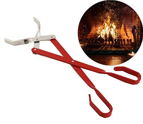 Tragbare Edelstahl Folding Feuerzange Outdoor Camping Picknick BBQ Holzkohle Brennholz Zangen Feuerzange Herd Zubehör Werkzeuge