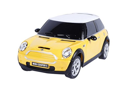 Webby 1:24 BMW Mini Cooper S Remote Control Sports Car, Yellow