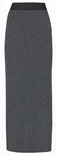 Neu Damen Übergröße Stretch Jersey Gypsy Boho Langes Maxi Kleid Rock Übergröße UK 8-26 - Dunkelgrau, Damen, 40 (Maxi-kleid Jersey)