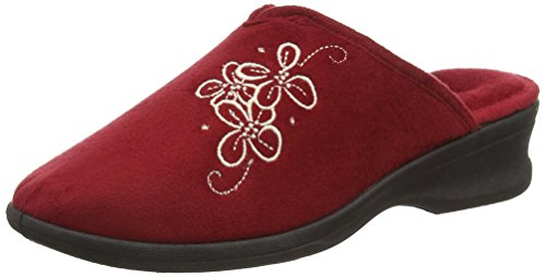 Padders Sable, Chaussons femme Rouge - Rouge