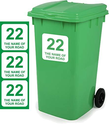 *Mülltonne Aufkleber personalisierbar 3Stück Schilder Größe 18cm x 18cm D1*