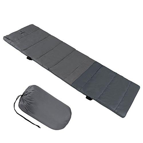 ALPIDEX universelle Feldbettauflage ALPIPAD in unterschiedlichen Größen mit Kissenfach, Fixierbändern und Packsack, Größe:200 x 70 cm