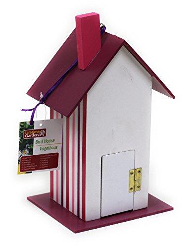 Buntes Vogelfutterhaus aus Holz / Lila / 25 x 12 x 14 cm / Nistkasten - 2