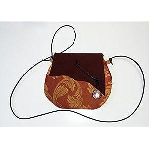 Tasche aus Leder und Damast Baumwollgewebe, limited edition BBagdesign.