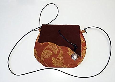 Pochette en tissu damassé de coton et cuir, limited edition BBagdesign.