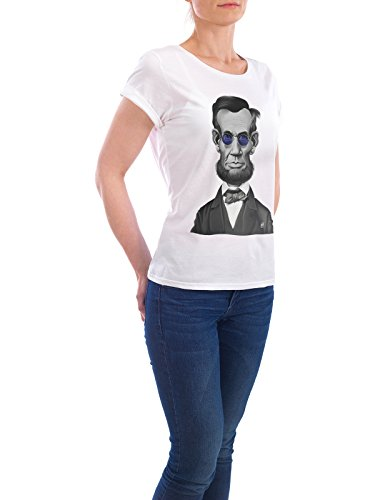 "Design T-Shirt Frauen Earth Positive ""Abraham Lincoln Steampunk"" - stylisches Shirt Film von Rob Snow Weiß"