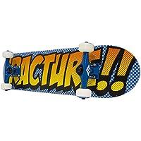 Fractura completo Mini monopatín, Unisex, Complete Mini Skateboard, azul y naranja, 7.25-Inch