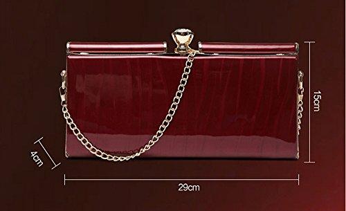 Handtasche, Tasche, Paket, kleines Paket, Großraum-Umschlag Tasche, Abendessen Bankett-Paket ( Farbe : Schwarz ) Gold