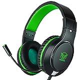 Gaming Headset für PS4 Xbox One Nintendo Switch Smartphones (Grün)
