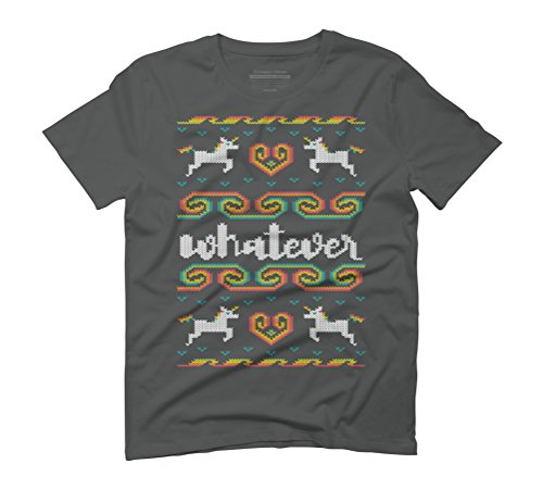 Whatever Men's Graphic T-Shirt - Design By Humans Anthracite