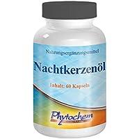 NACHTKERZENÖL | Kapseln mit 500 mg Nachtkerzenöl | 60 Kapseln | Premium Qualität aus Deutschland