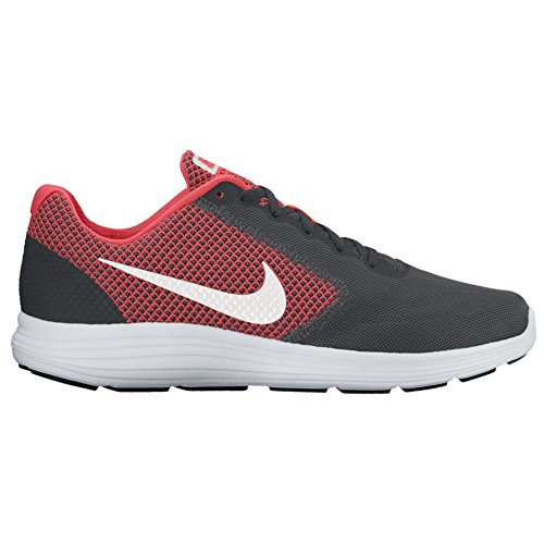 Nike Men's Nike Revolution 3 Running Shoe, Chaussures de Fitness homme Multicolore (Anthracite/white-track Red)