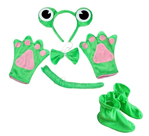 band Bowtie Tail Gloves Shoes 5pc Costume for Child Party (One Size) ()