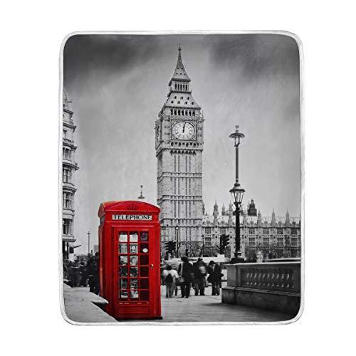 Use7 Home Decor Big Ben London - Manta para sofá de Cama,...