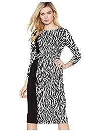 905ab82e9ce Principles Womens Multicoloured Zebra Print Twist Front Knee Length Dress
