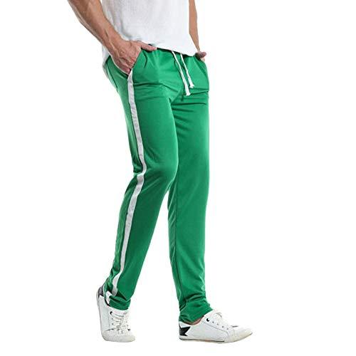 TEBAISE Herren Jogginghose   Trainingshose für Sport Fitness Gym Training & Freizeit   Sporthose - Jogger Pants - Sweatpants Hosen - Freizeithose Lang Vielen Farben (Grün,2XL)