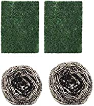Brite Guard Polyester Scrub Pads and Steel Scrubbers Set (Pack of 4)
