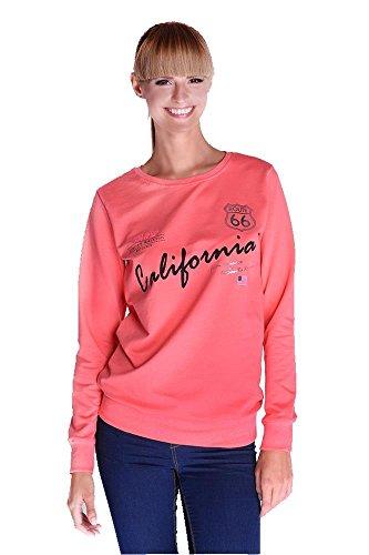 Bluse Shirt mit Druck in 6 Farben Gr. 36 38 S M, 1934 Koralle