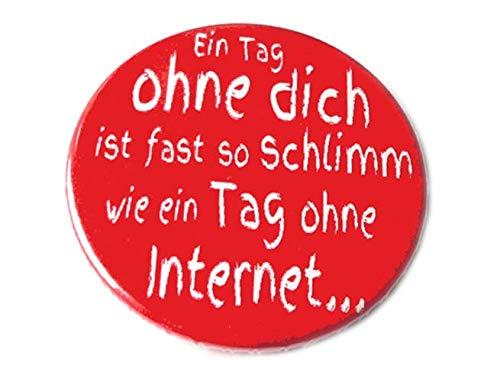 Internet, Button Magnet Flaschenöffner Spiegel