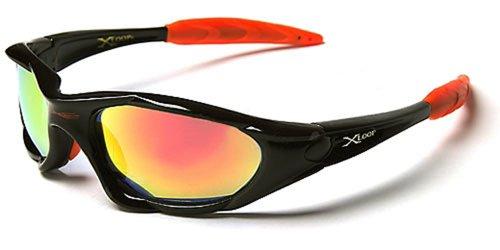 X-Loop Sonnenbrillen - Sport - Radfahren - Skifahren - Laufen - Motorradfahrer - Kajak - Klettern - Angeln / Mod. 1002 Schwarz Orange
