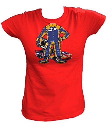 Artdiktat Damen T-Shirt - RACE CAR DRIVER Größe S, rot (Race Car Driver Kostüm Kind)