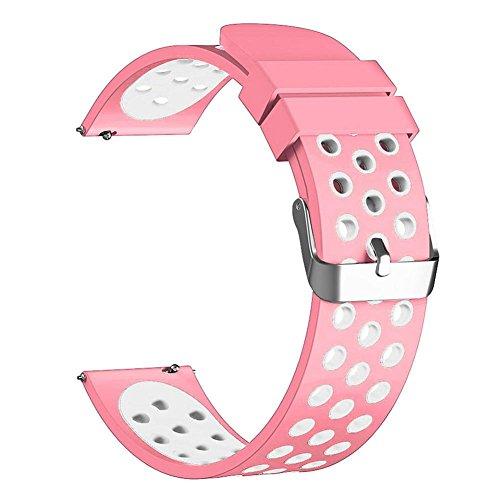 Asiproper Soft Silikon Ersatz Armband Band Armband für Fitbit Laden 2, Black 6