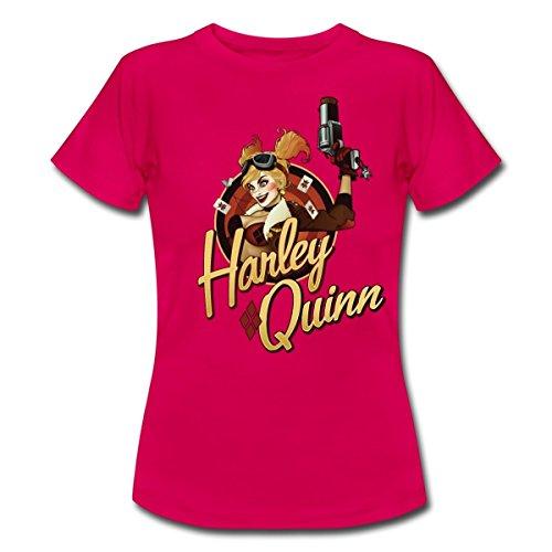 DC Comics Bombshells Harley Quinn Frauen T-Shirt von Spreadshirt®, XXL, (Jahre Pin Girl Up 40er)