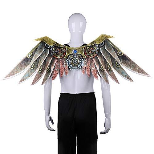 Nwlzx Halloween Cosplay Karneval Dinosaurio Drachen Kostüm-Erwachsen-Eagle-Flügel, Regenbogen-Flügel, Steampunk Flügel, Dämon Knochen Flügel, Dekoration Zubehör-C-M