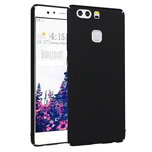 Ascend p9 cover, per huawei p9 custodia rigida, asnlove ultrafina gomma rigida backcase protettiva smartphone skin housing shell hard case, black