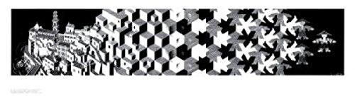 M.C. Escher – Metamorphosis I Poster Drucken (89,87 x 25,10 cm)