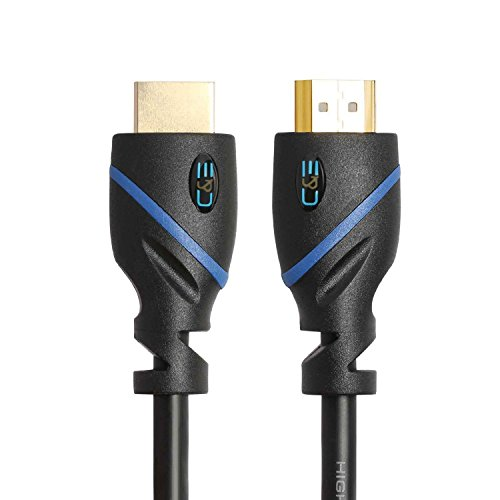 C & E High Speed HDMI Kabel unterstützt Ethernet, 3D und Audio Return [Neueste Standard], 1,5Füße, 1er - Hdmi-kabel Pack Ft 12 2