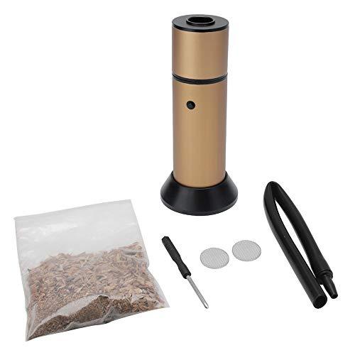 EYLIFE Professionelle Food Smoking Gun, Handheld Kaltrauchgenerator für BBQ Grill, Küche Kochen Bar Molecule Food Cocktail Geräucherte Werkzeuge (Gold)