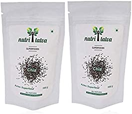 Nutritatva Chia Seeds Aztec Superfood (Pack of 2) 100g+100g