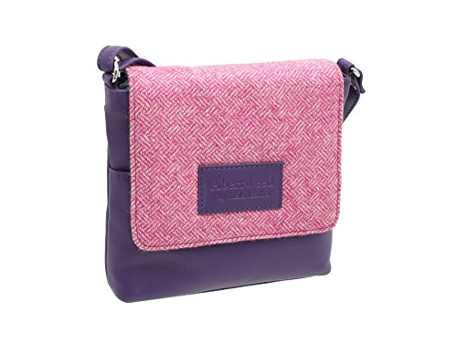 Mala Leather, Borsa a tracolla donna, Candy Pink (Rosa) - 7106_40 Candy Pink