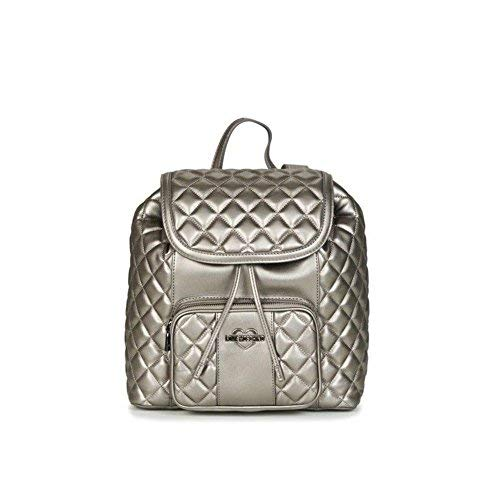 Love Moschino Metallic Superquilted Rucksack Silber Metallic