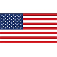 ‏‪Official Size American Flag Sticker (America us USA Stars Stripes Patriotic Patriot)‬‏