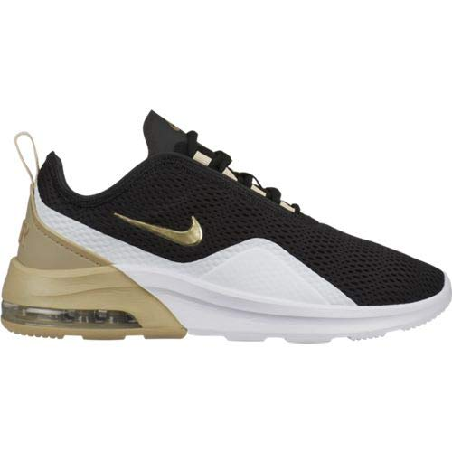 Nike Damen Air Max Motion 2 Leichtathletikschuhe, Mehrfarbig (Black/MTLC Gold Star/White 000), 40 EU