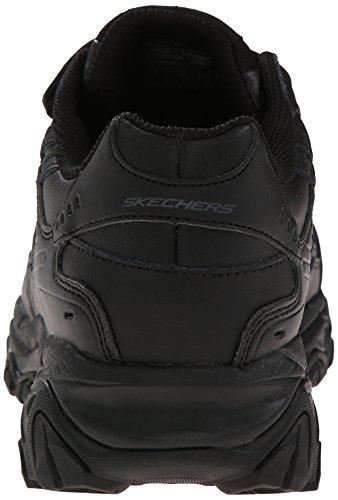Skechers Sport ¨ Afterburn Grà VE Memory Foam Sneaker Gancio e Fibbia Nero