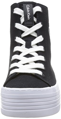 Calvin Klein Jeans Zabrina Canvas Damen Sneakers Schwarz (Blk)
