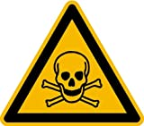 Aufkleber Warnung vor giftigen Stoffen DIN ISO 7010-W016 SL 100mm