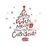 Decorazioni natalizie Adesivi per finestra in vetro rimovibili per Babbo  Natale 680734e9944