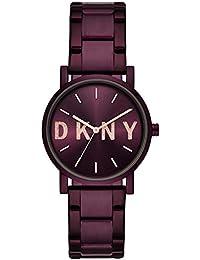 dac49d3dcb16 DKNY Reloj Analógico para Mujer de Cuarzo con Correa en Acero Inoxidable  NY2766
