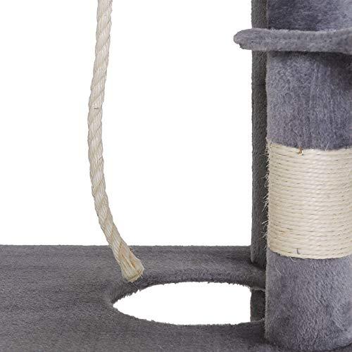 dibea KB00504 Kratzbaum – Extra breit – Katzen Kletterbaum (Höhe 141 cm), hell-grau - 5