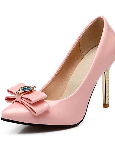 WSS 2016 Chaussures Femme-Bureau & Travail / Décontracté-Bleu / Rose / Argent-Talon Aiguille-Talons / Bout Pointu-Talons-Cuir Verni pink-us9 / eu40 / uk7 / cn41