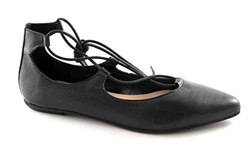 DIVINE FOLLIE 5782 nero scarpa donna ballerina schiava laccio 36