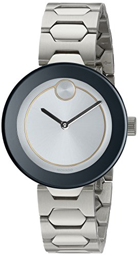 Movado Women's Swiss Quartz Stainless Steel Automatic Watch, Color:Silver-Toned (Model: 3600381)