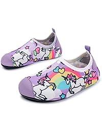 SUN HUIJIE Los niños nadan los Zapatos de Agua Barefoot Aqua Calcetines  Zapatos para Playa Piscina Surfing Yoga… cb5f593f210