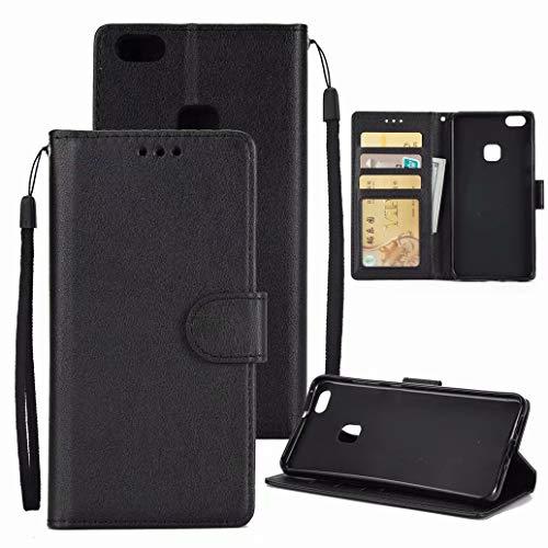 Funda Huawei P10 Lite Ttimao Retro Flip de Cuero PU Wallet Caso...