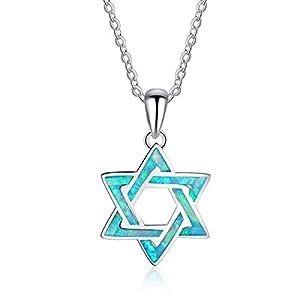 J.Me.Mi S925 Halskette Anhänger Opalschmuck Pentagramm Sterne Gestalten Sterling Halsketten Zum Liebhaber Geburtstag Geschenk Jahrestage Das Erntedankfest