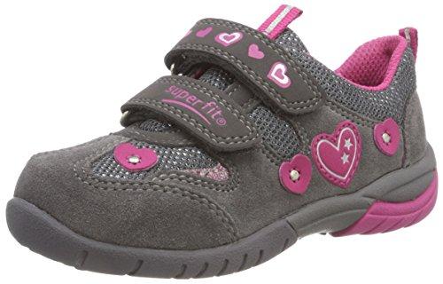 Superfit Mädchen SPORT3 Sneaker, Grau/Rosa 20, 35 EU